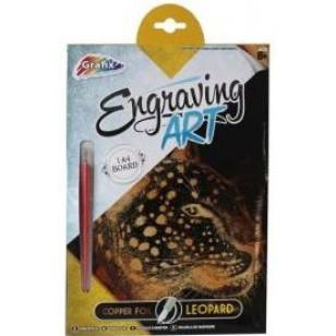 Engraving Art Scraper Foil - Leopard