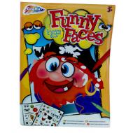 Funny Faces Colouring & Sticker Book